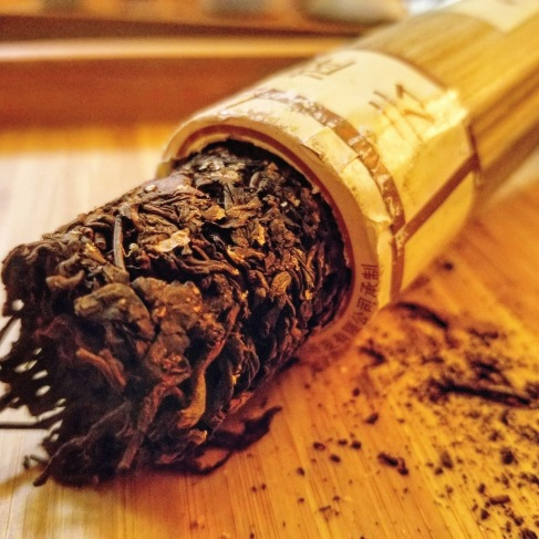 Bamboo Ripe Pu-erh. Nice and mellow for a ripe, with some wonderful caramel notes.